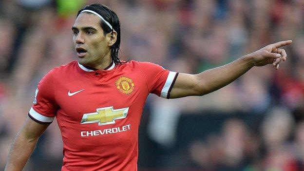 Man Utd's Radamel Falcao only fit for 20 minutes - Louis van Gaal ...