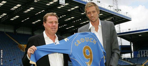 Image result for peter crouch  and harry redknapp