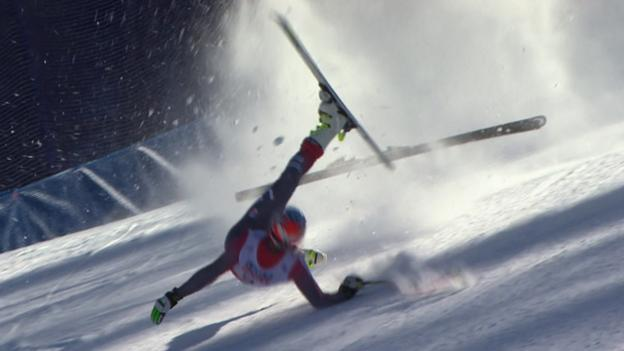 Alpine World Ski Championships: Bode Miller crashes out - BBC Sport