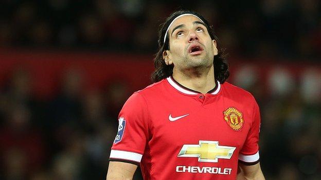 Radamel Falcao: Man Utd striker faces Tottenham Under-21s - BBC ...