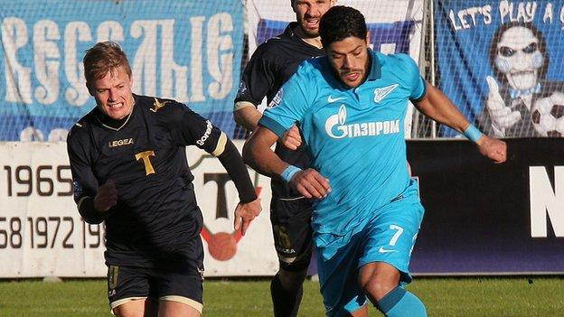 Torpedo Moscow: Fans banned for two games after Hulk racist abuse
