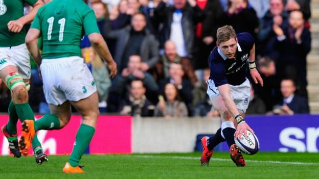 Six nations 2015 finn russell scores for scotland against - Rugby six nations results table ...