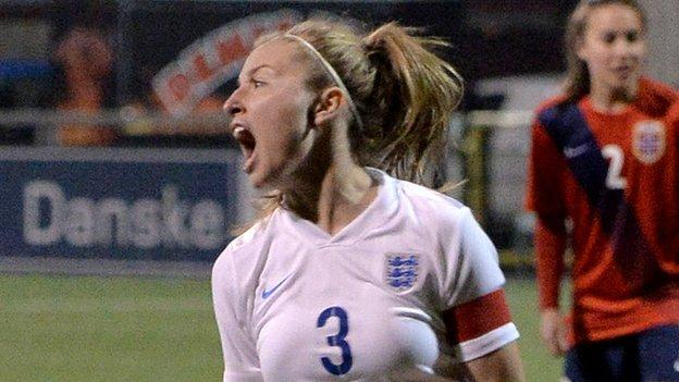 England women: Leah Williamson penalty books Euro spot - BBC ...