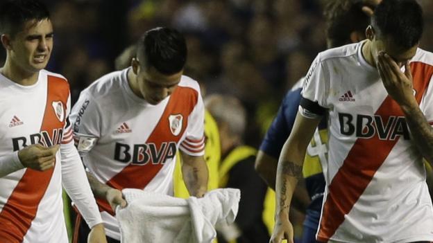 Boca Juniors v River Plate: Copa Libertadores tie abandoned - BBC ...