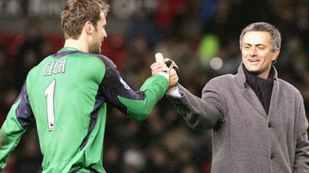 Jose Mourinho hopes Petr Cech does not leave Chelsea - BBC Sport