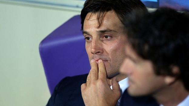 Vincenzo Montella sacked as Fiorentina head coach - BBC Sport