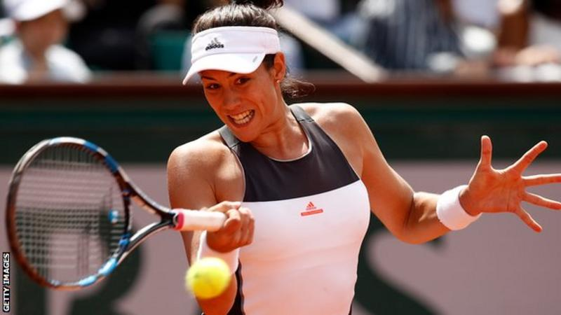 Muguruza, Djokovic move to French Open third round