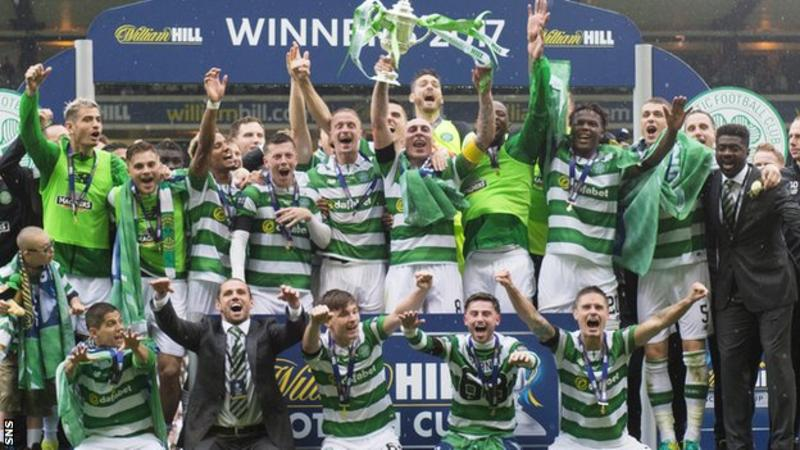 Celtic clinch unbeaten treble with late Scottish FA Cup win