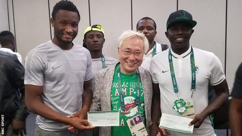 Nigeria Olympic football team receive '$390,000 gift'