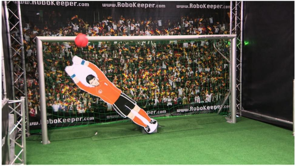 bbc sport challenges the robot keeper bbc sport