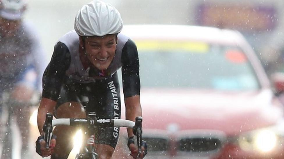 Olympics cycling lizzie armitstead wins road race silver bbc sport