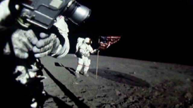 Apollo 16 lands on the Moon
