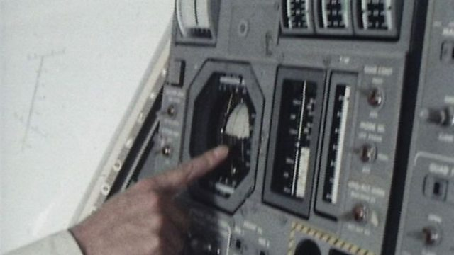 The lunar module's controls