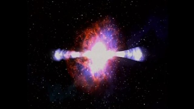 What causes gamma ray bursts?