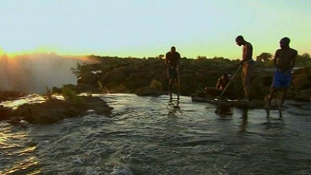 Fishing at Victoria Falls