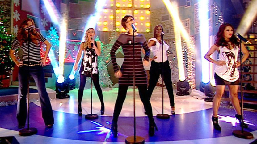 The Saturdays perfom on Blue Peter