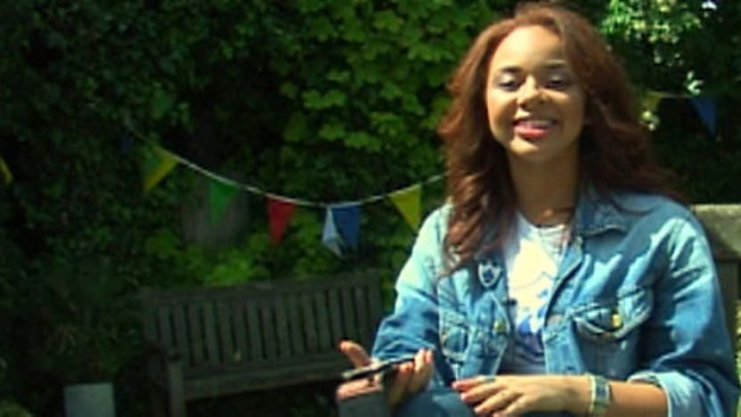Alexis Jordan in Blue Peter garden