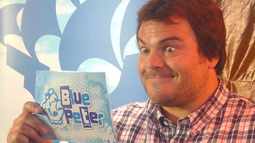 Jack Black holding his breath.