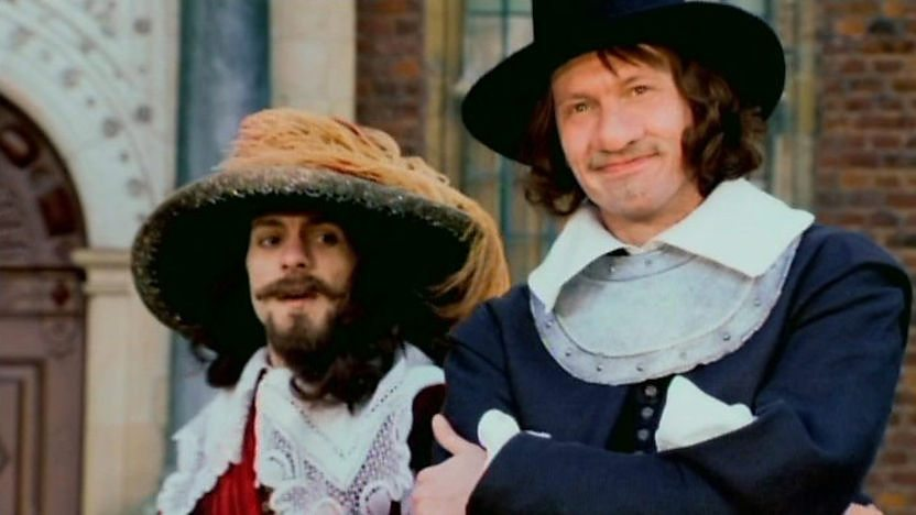 A cavalier and a roundhead