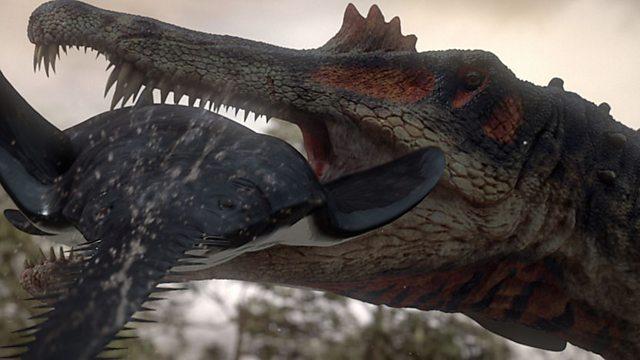 Spinosaurus hunting