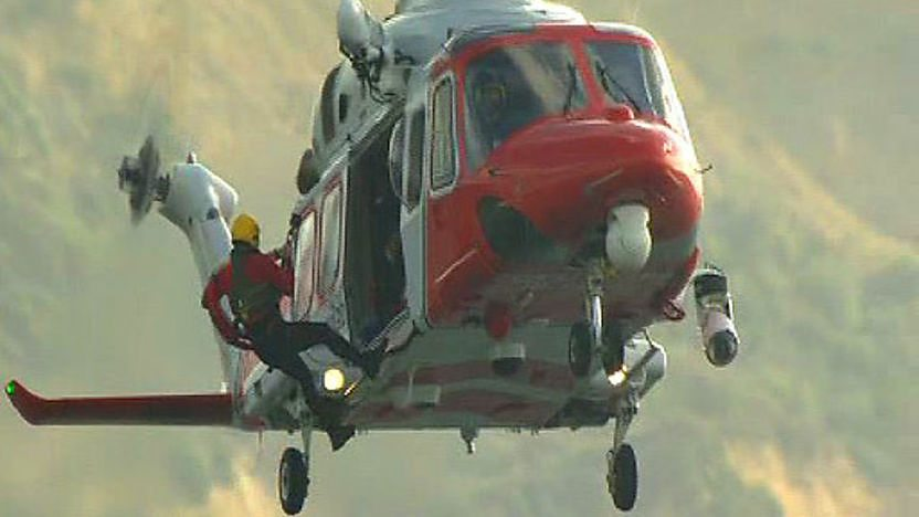 Coastguard helicoptor