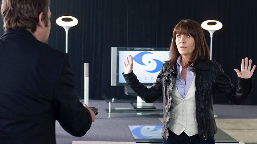 Sarah Jane with her hands up