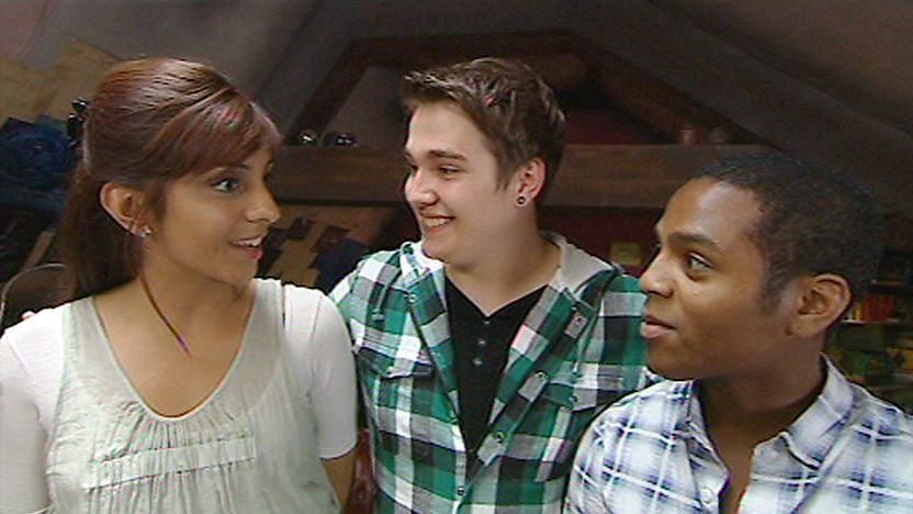 Chris with Rani and Clyde.