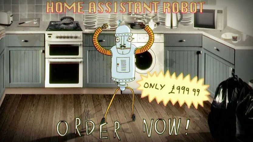 Image of a robot assistant in a kitchen.