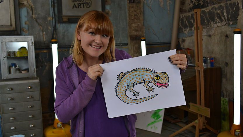 Jo shows you how to draw a Tokay Gecko
