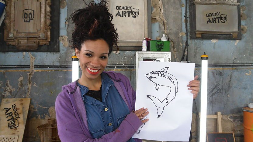Michelle shows you how to draw a Deadly Doodle of a Shark!