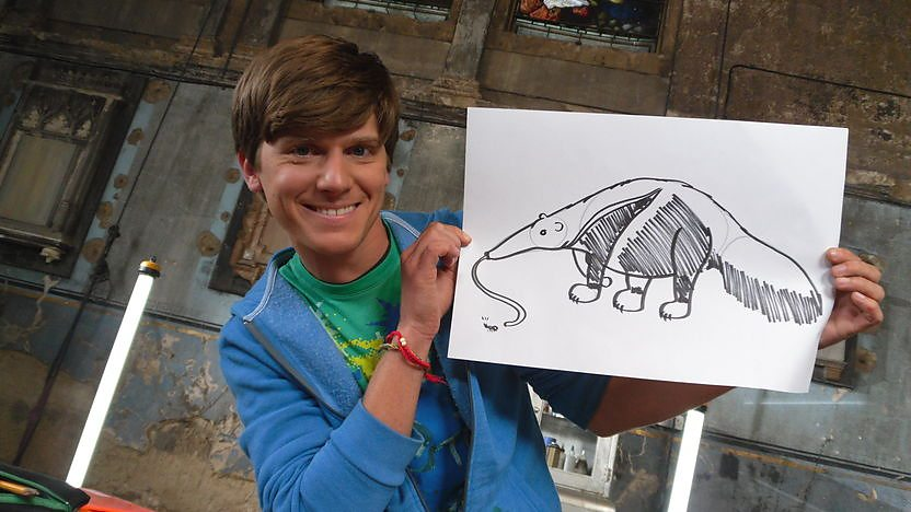 Mike shows you how to draw a Giant Anteater