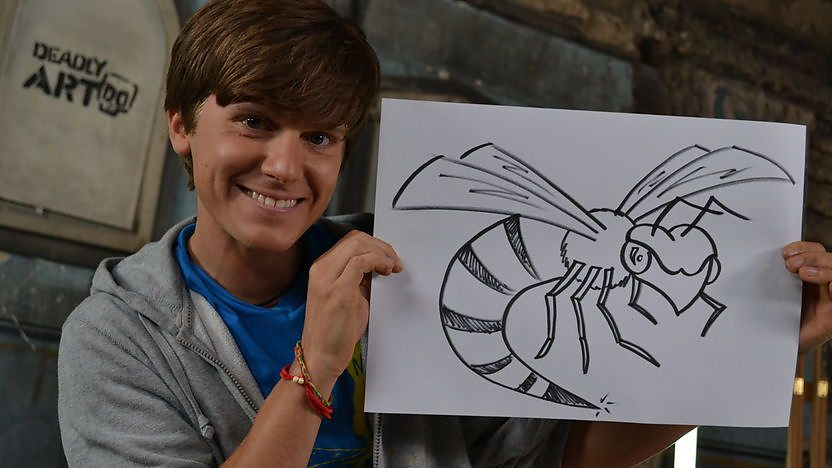Mike shows you how to draw a Deadly Doodle of a Hornet!
