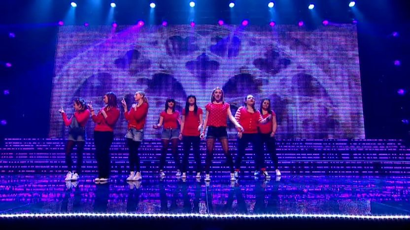 Musicality perform on Sport Relief Does Glee Club