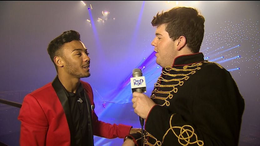 Marcus Collins being interviewed by Craig Coulton.