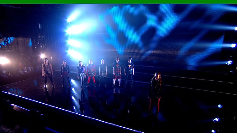 Raveheart perform on Sport Relief Does Glee Club