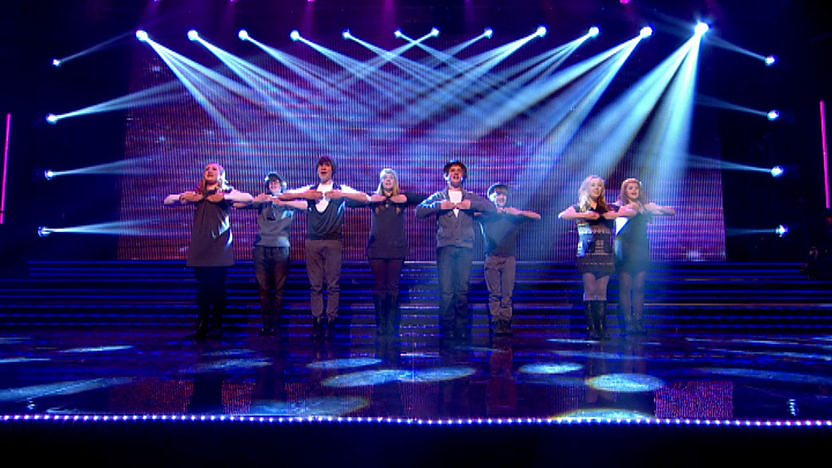 The Tempests perform on Sport Relief Does Glee Club