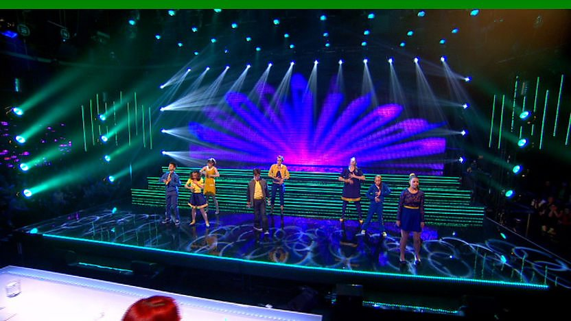 Believe perform on Sport Relief Does Glee Club