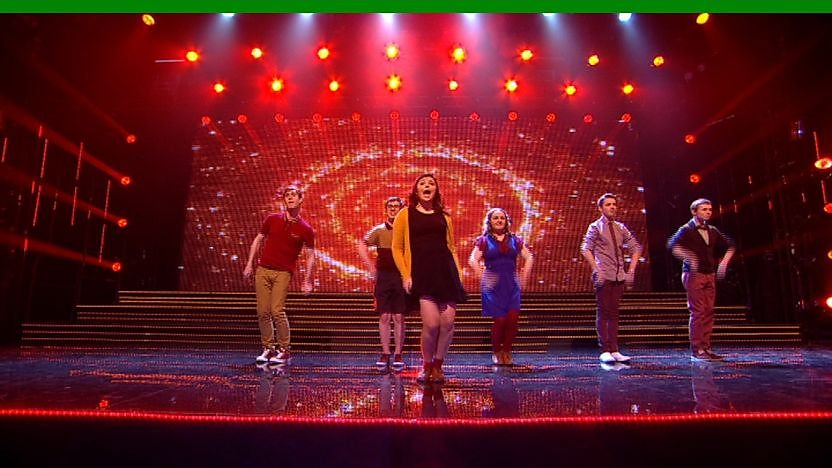 Dynamix perform on Sport Relief Does Glee Club