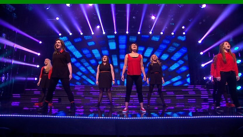 Blaze perform on Sport Relief Does Glee Club