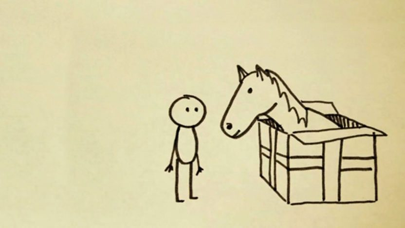 Image of a Horse and a Man.