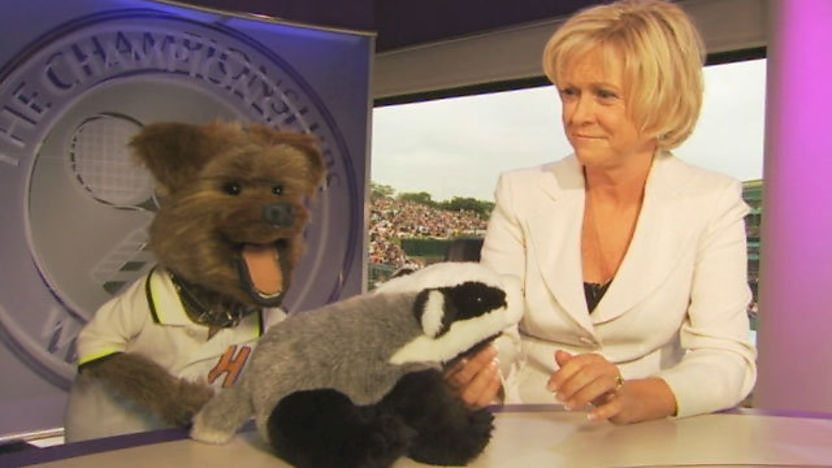 Hacker and Sue Barker