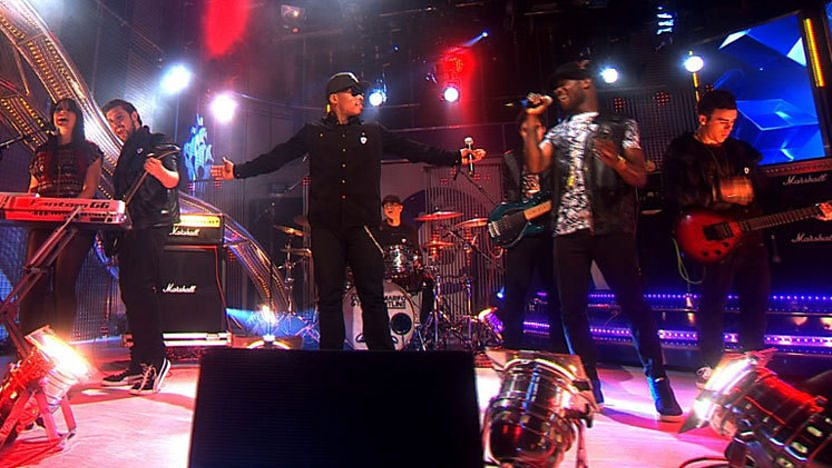 Clement Marfo and the Frontline performing on Blue Peter