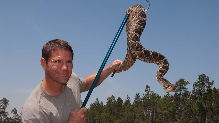 Steve finds the largest snake in North America