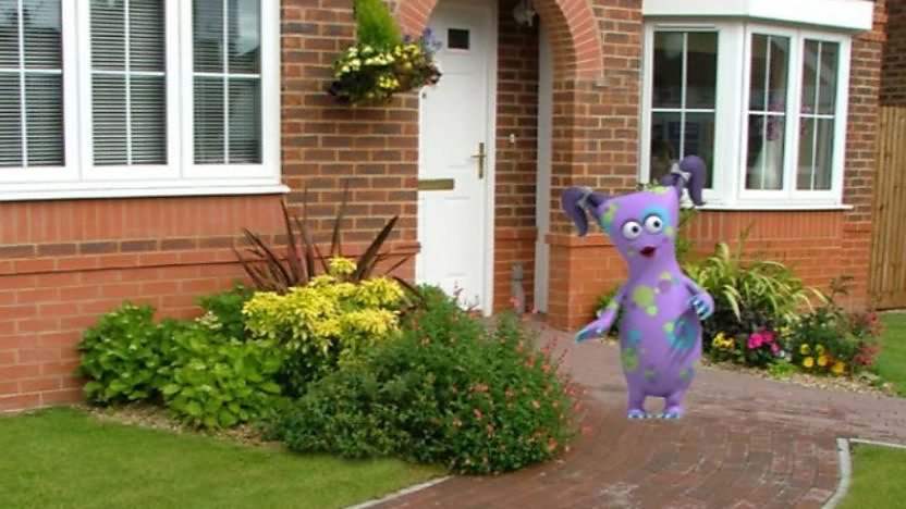 Bugbear outside their house.