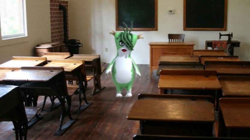 Bugbear in a classroom.