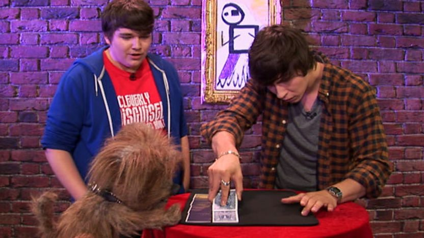 Ben performing his magic trick.