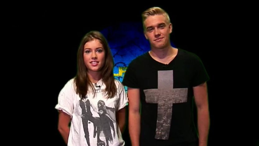 Maddy and Rhydian from CBBC's Wolfblood