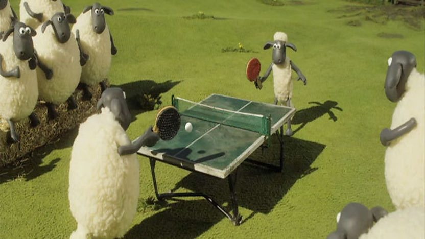 Shaun and Friends playing Ping Pong.