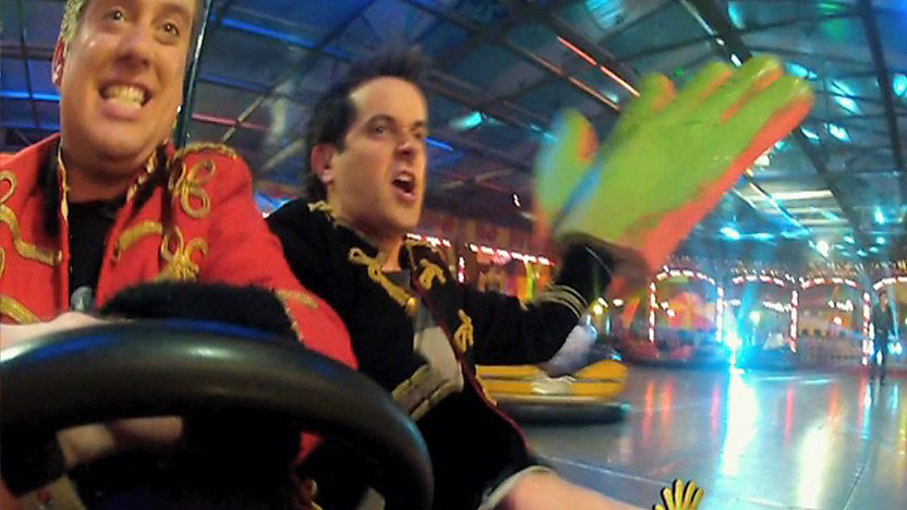 Dick and Dom on the Dodgems