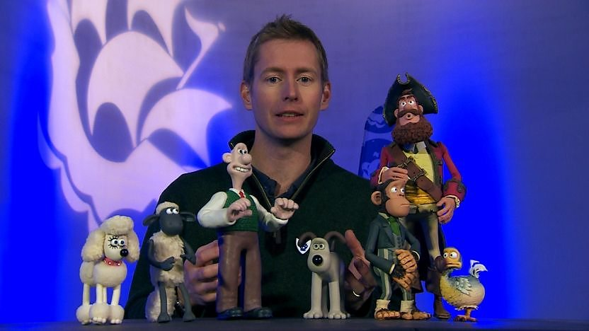 Merlin - an animator from Aardman Animations with stop motion puppets